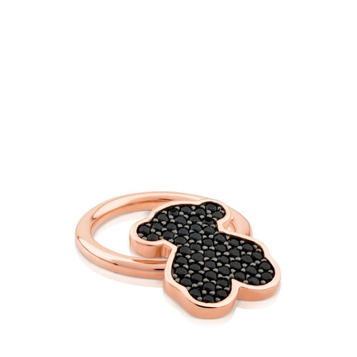 Pink Vermeil Silver Join Ring with Spinel