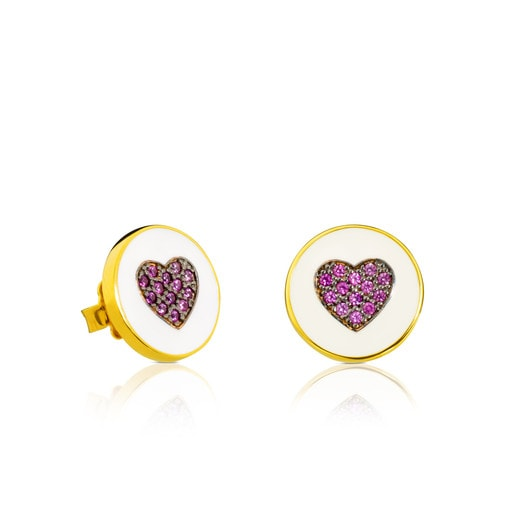 Vermeil Silver Bahía Earrings with Ruby