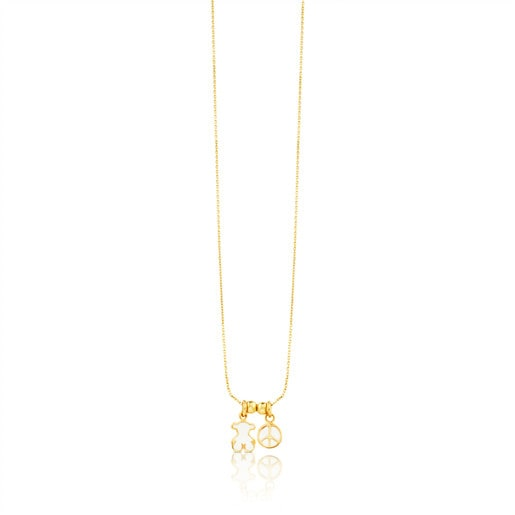 Gold Whim Necklace with Mother-of-Pearl