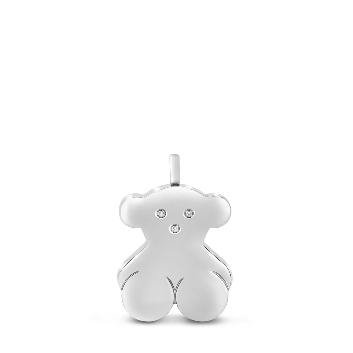 Stainless Steel TOUS Bear Pendant