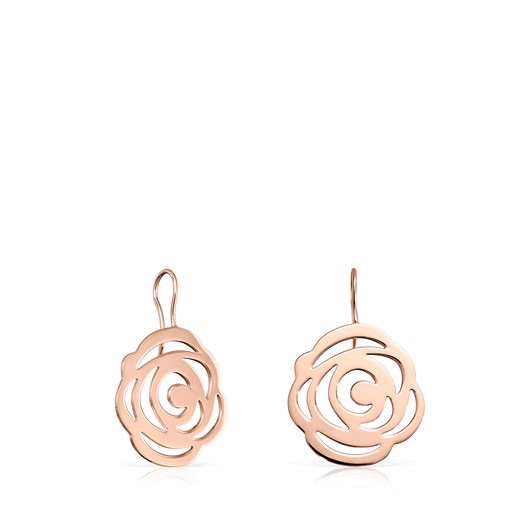 Short rose Vermeil Silver Rosa de Abril Earrings