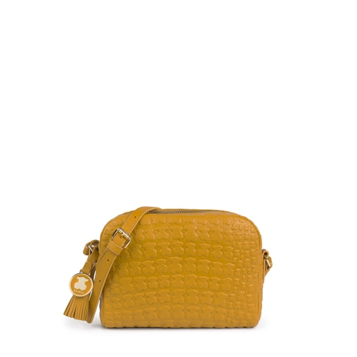 Mustard leather Sherton crossbody bag
