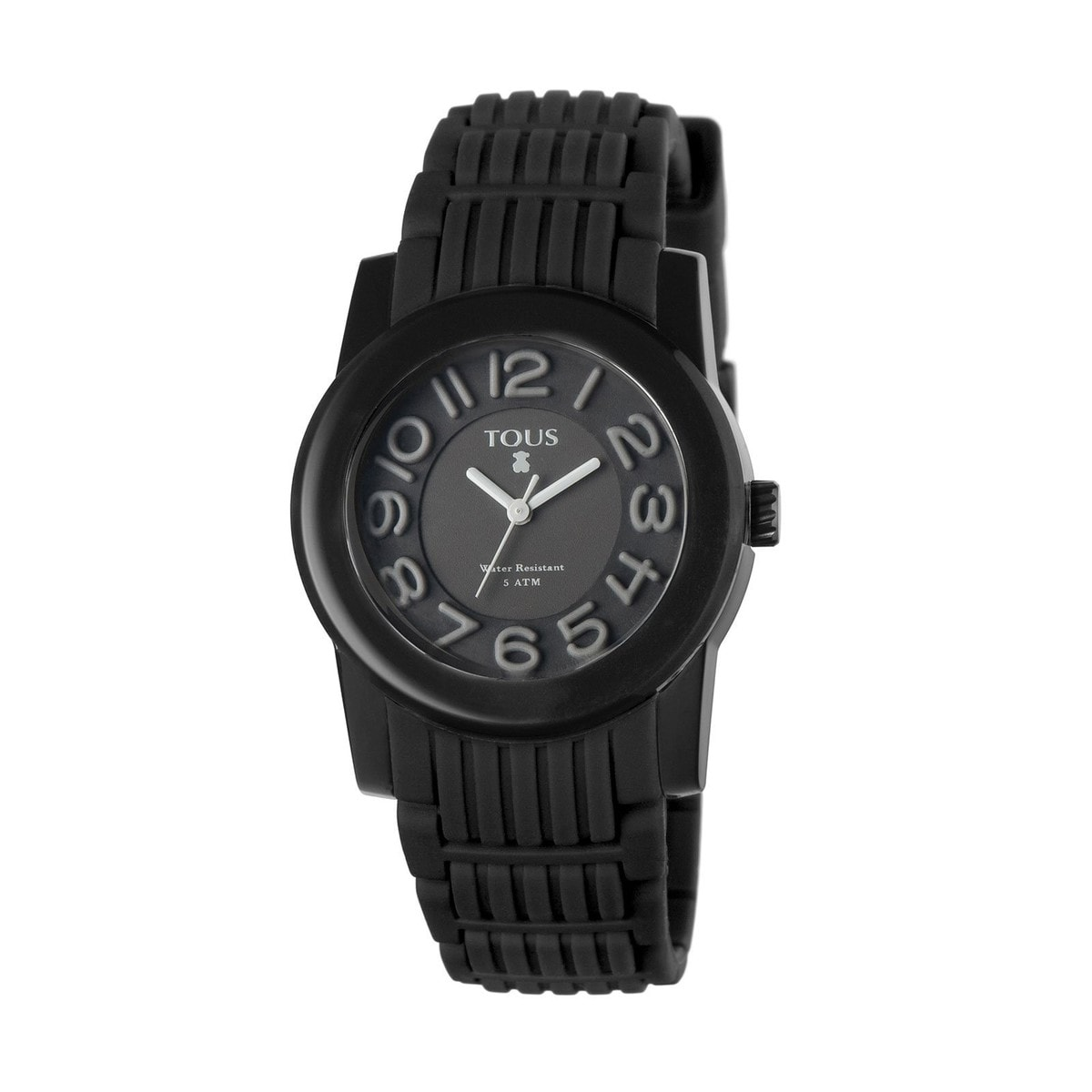 Steel Otos Watch with black Silicone strap