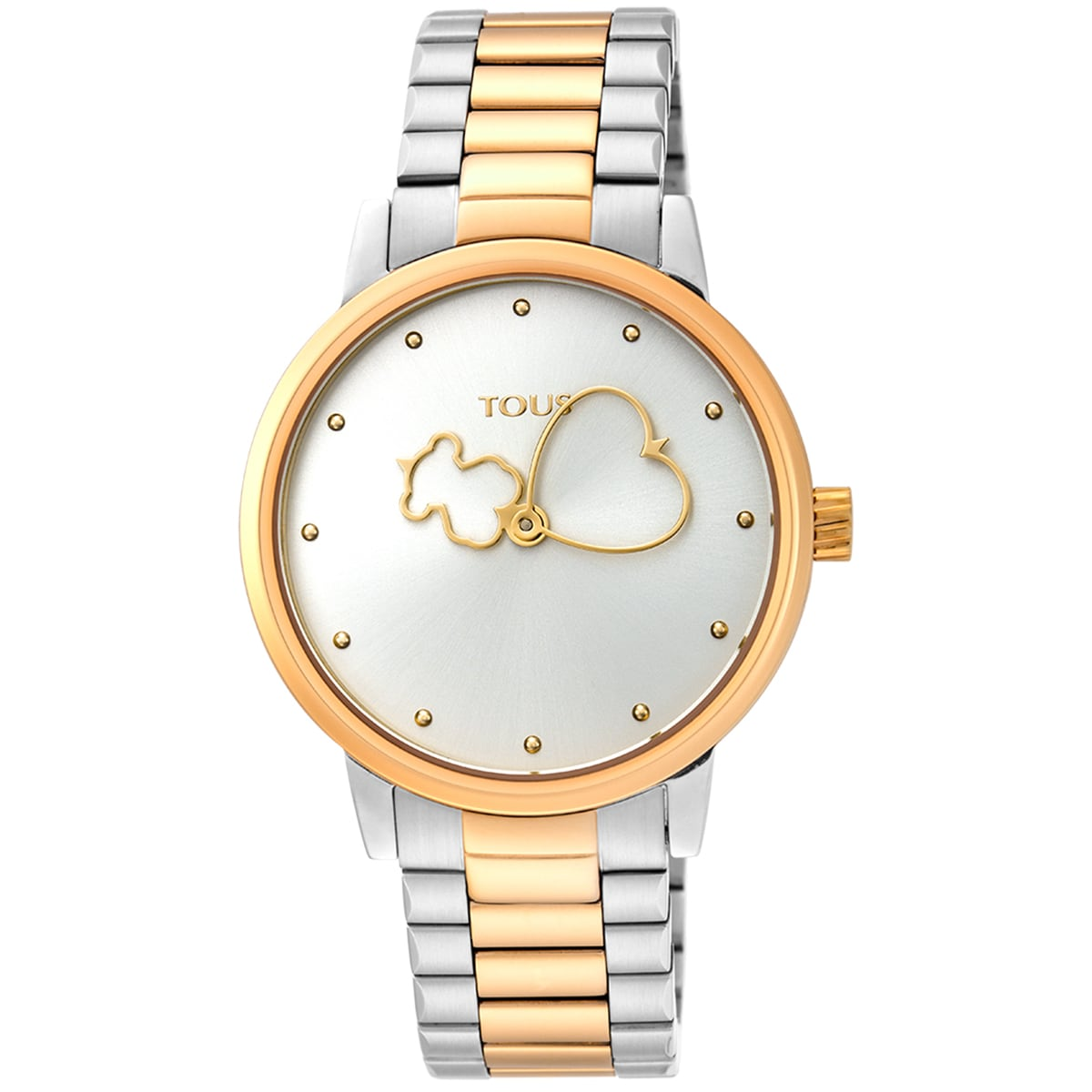 Reloj Bear Time bicolor de acero/IP dorado