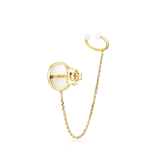 Gold and Pearls Avalon Earcuff