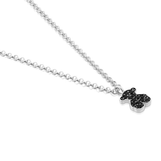 Silver Motif Necklace with Spinel