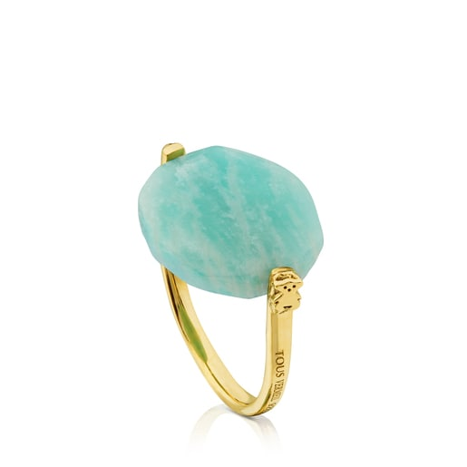 Vermeil Silver Terra Ring with Amazonite