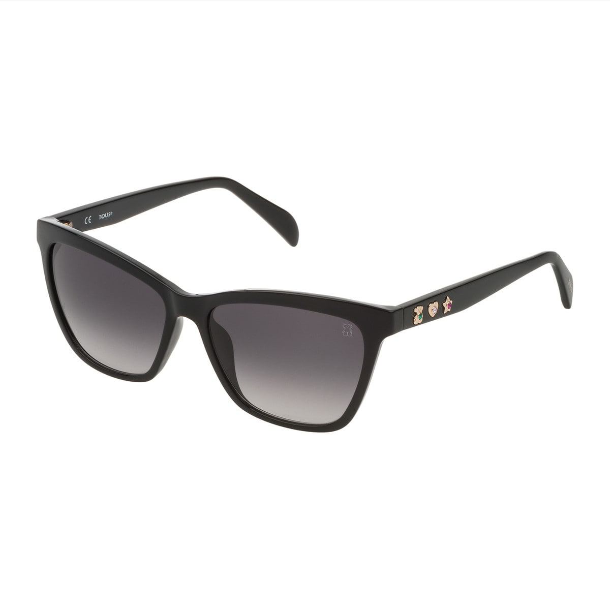 Black Three Motives Squared Sunglasses