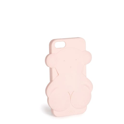 Funda de móvil iPhone 5 Rubber Bear en color rosa