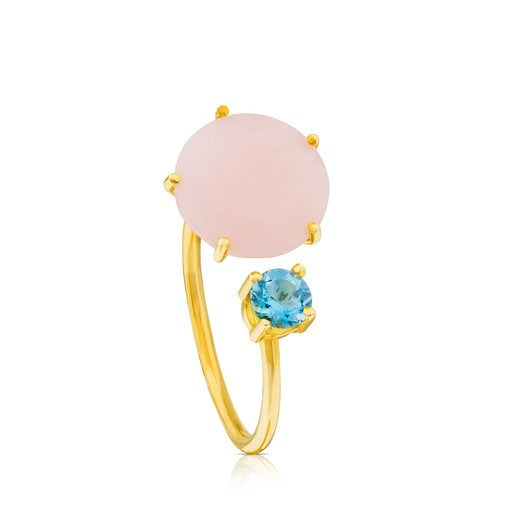 Ivette Ring in Gold with Opal and Topaz