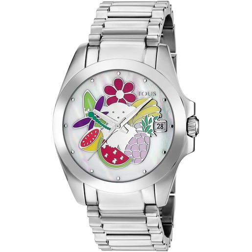 Steel Miranda Watch with Mother-of-pearl