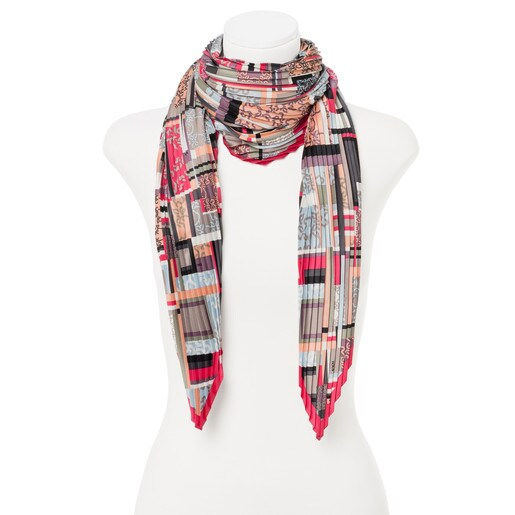 Multicolored Rombo Mossaic Scarf