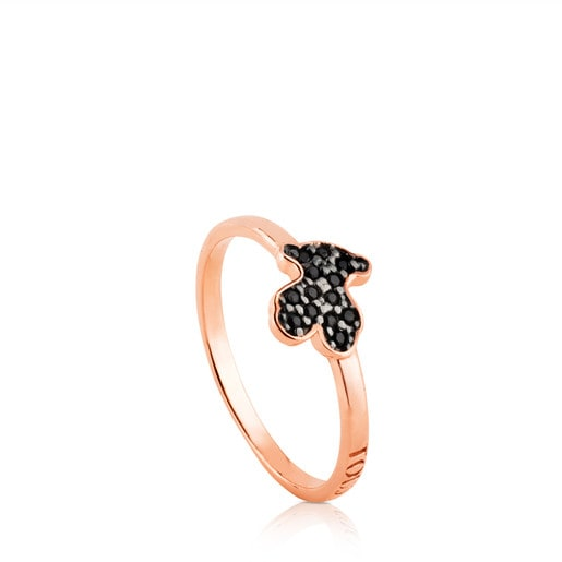 Rose Vermeil Silver Motif Ring with Spinel