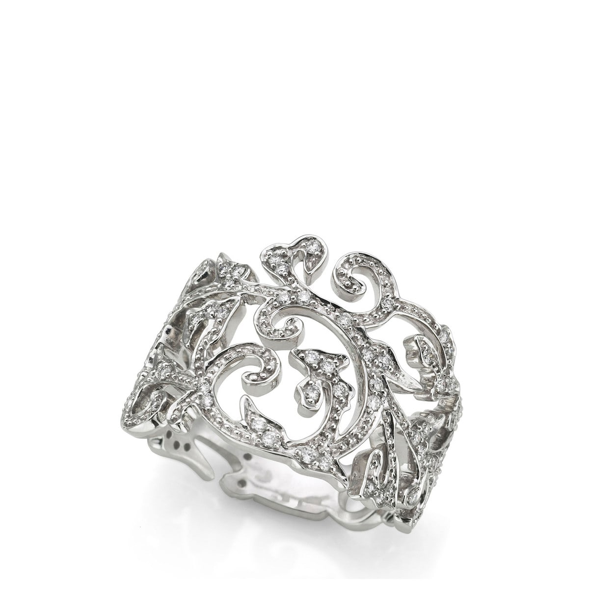 White Gold Ivy Ring with Diamond