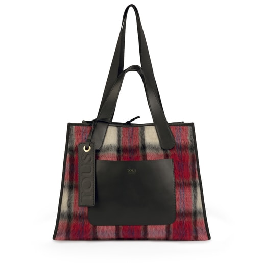 Reversible large leather multi-black Leissa tote bag