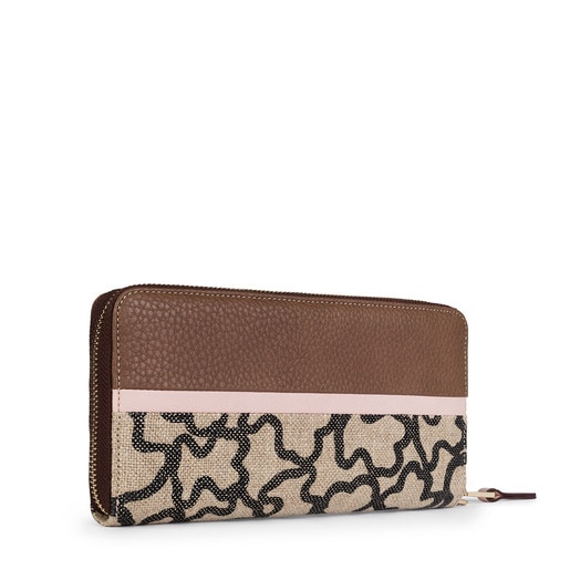Large brown-pink Elice New Wallet