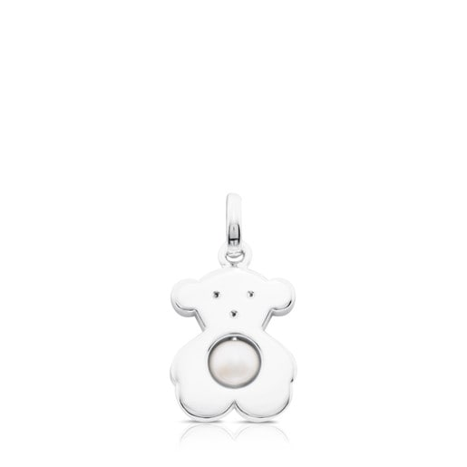 Silver Sweet Dolls Pendant with Pearl