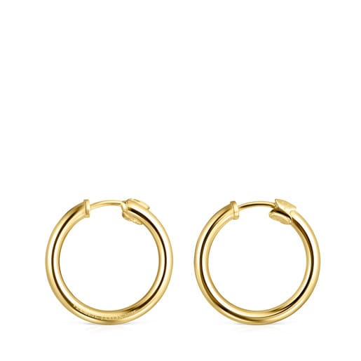TOUS Basics small Earrings in Silver Vermeil