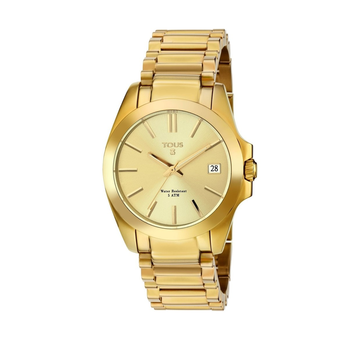 Gold IP Steel Drive 34 Watch