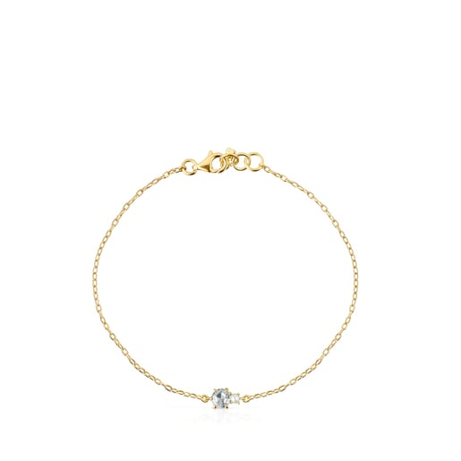 Mini Ivette Bracelet in Gold with Topaz and Pearl