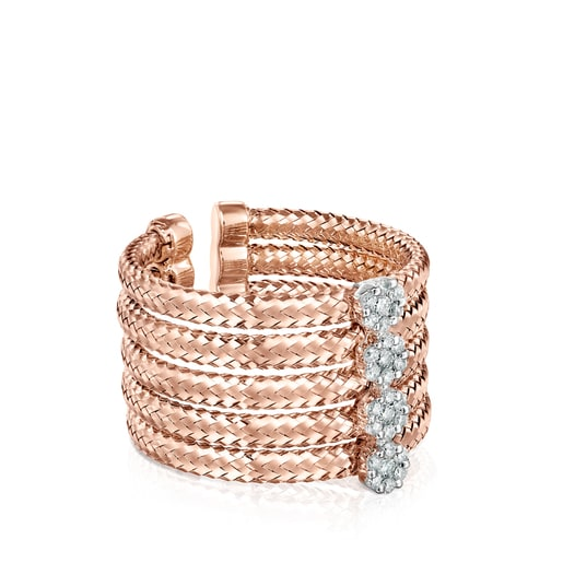 Light Ring in Rose Gold with Diamonds