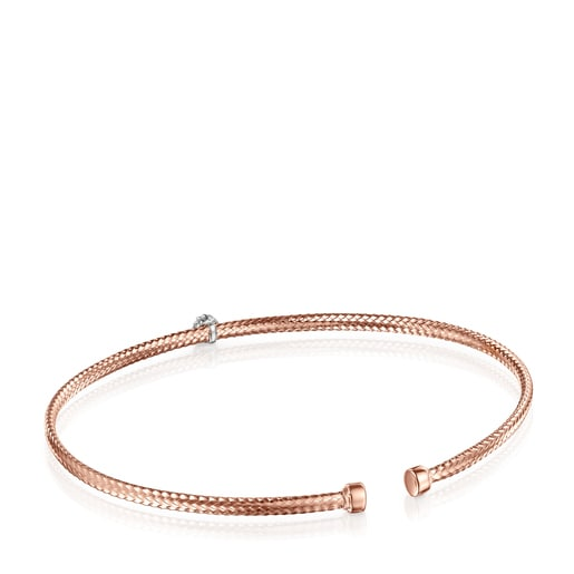 Light Bracelet in Rose Gold with Diamond rosette