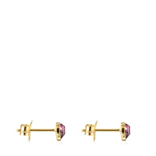 Gold and Amethyst Glory Earrings