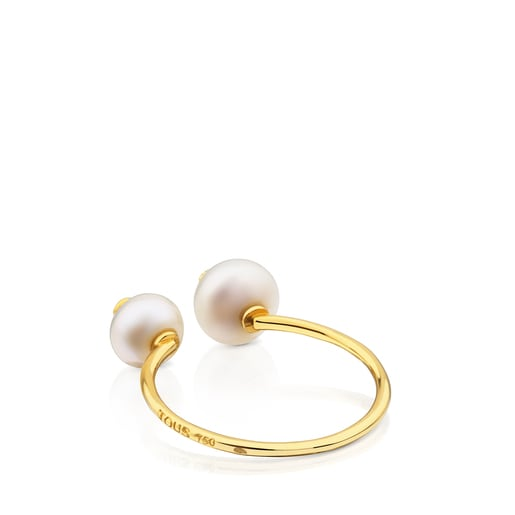 Gold Icon Pearl Ring