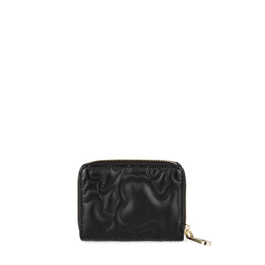 Medium black colored Kaos Capitone Change purse