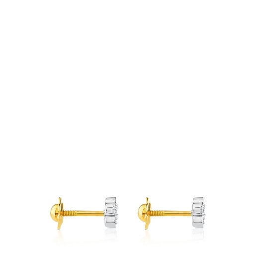 Aretes Puppies de Oro blanco