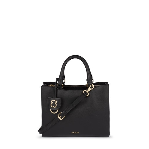 Small black Leather Odalis City bag
