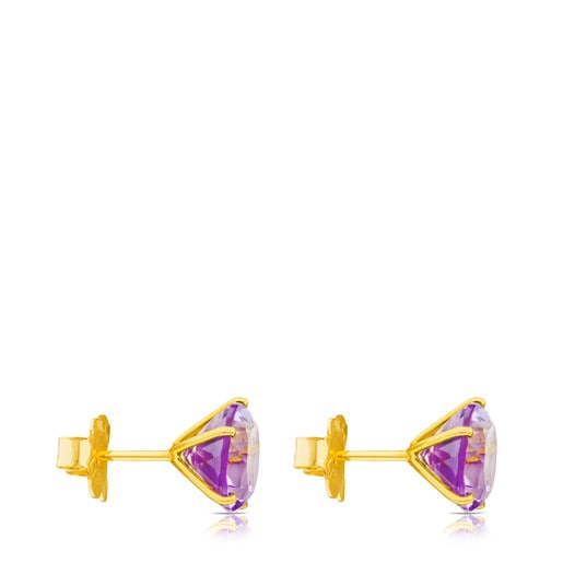 Ivette Earrings in Gold with Amethyst