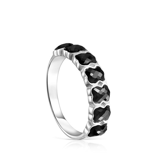 Mini Onix Ring in Silver with Onyx