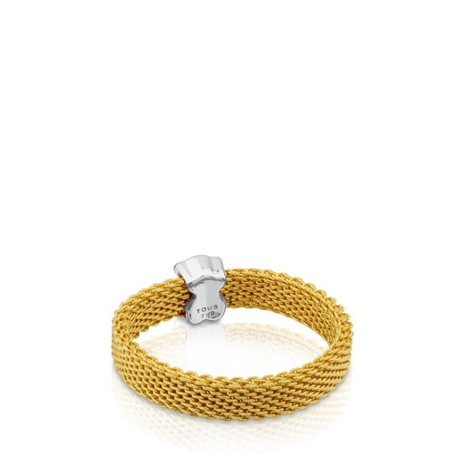 Bague Icon Mesh en or avec diamants