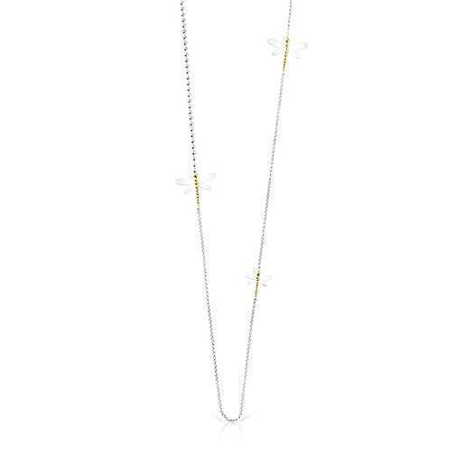 Long Silver and Silver Vermeil Real Mix Bera Necklace