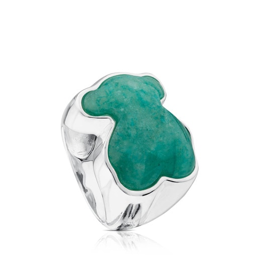 Silver New Color Ring with Amazonite