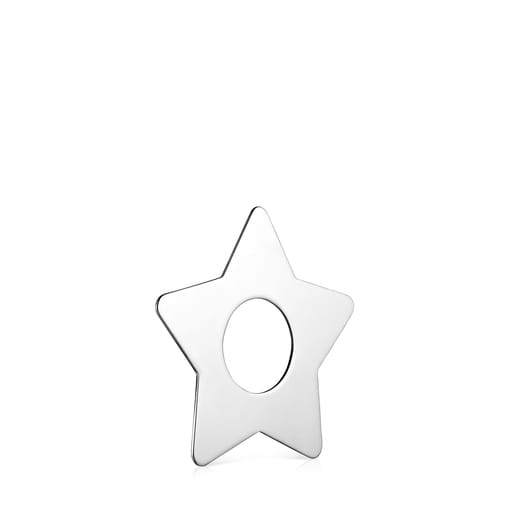 Large Hold Metal Silver Star Pendant