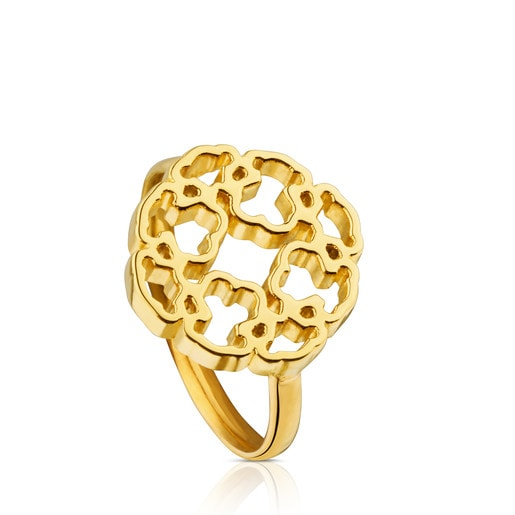 Gold Mossaic Power Ring