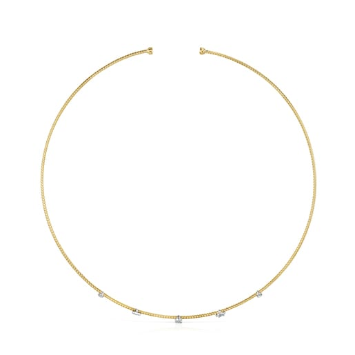 Light Choker in Gold with Diamonds