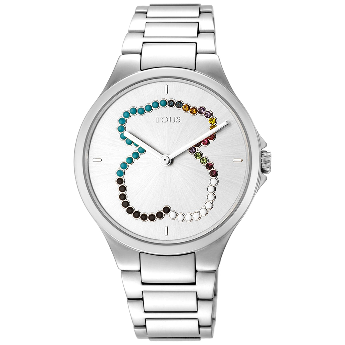Steel bear Motion Straight Watch with crystals