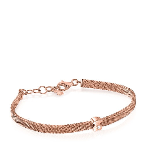 Rose Silver Vermeil Real Sisy Bracelet with Pearl