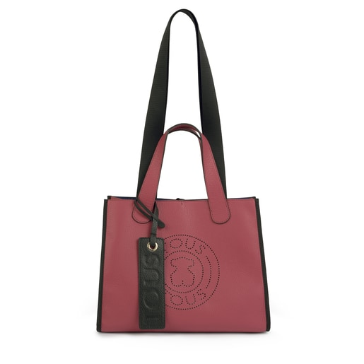 Medium leather pink Leissa tote bag