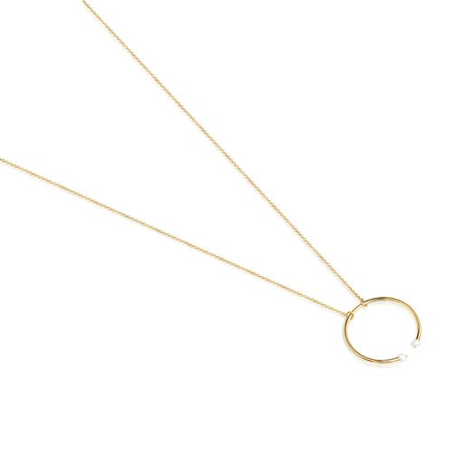 Batala Necklace in Gold Vermeil with Pearl
