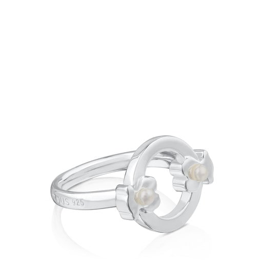 Anillo Super Power de Plata con Perlas