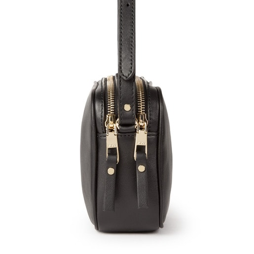 Black colored Leather Higgins Crossbody bag