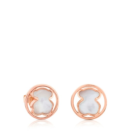 Rose Vermeil Silver Camille Earrings with Mother-of-Pearl