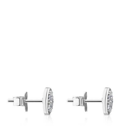 White Gold Super Micro Earrings with Diamonds