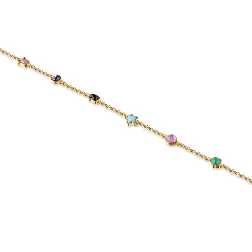 Glory Bracelet in Silver Vermeil with Gemstones