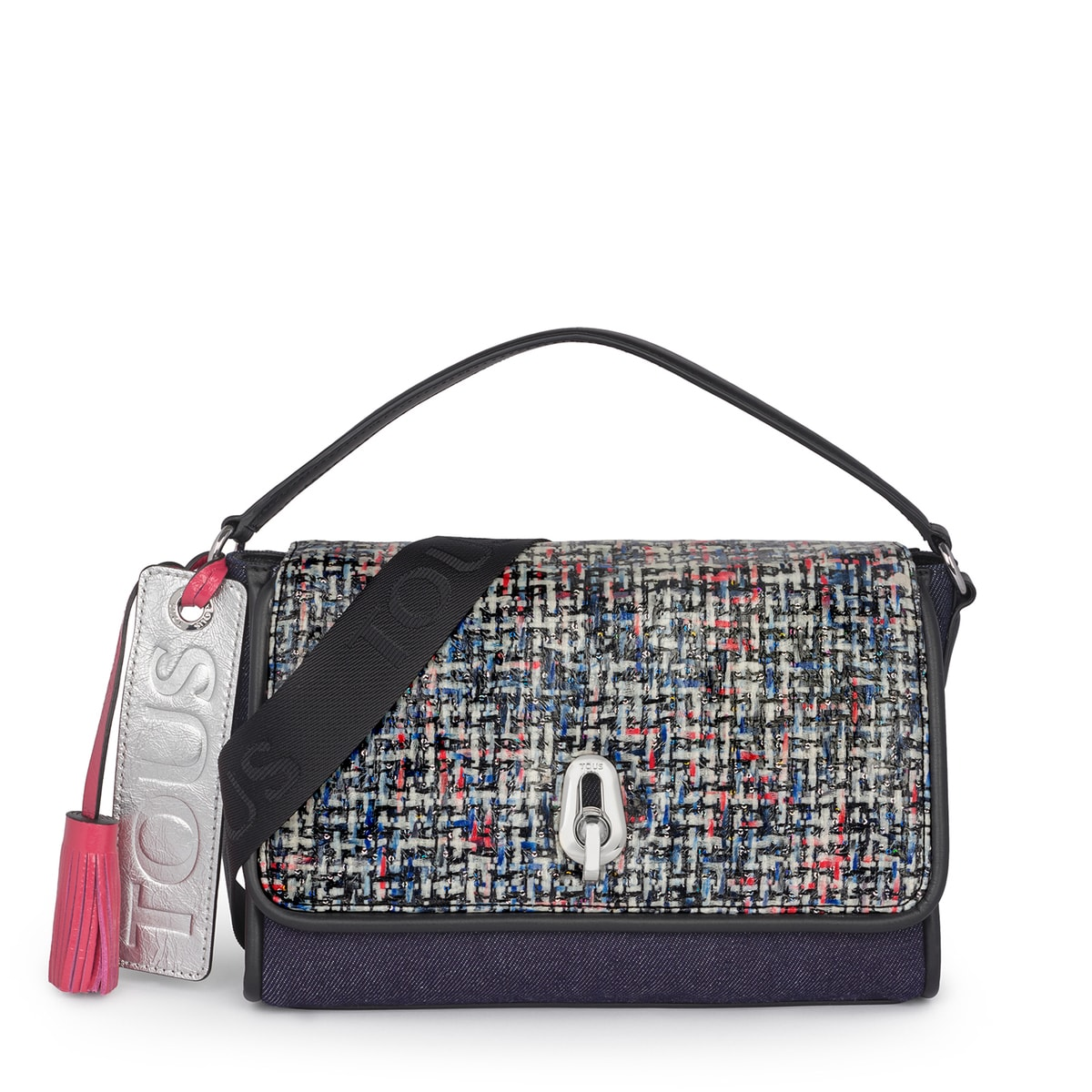 Bandolera pequeña Bridgy Tweed multicolor jeans