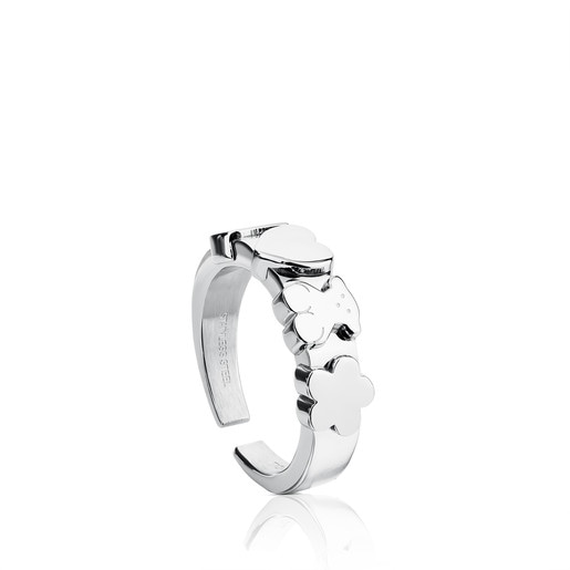 Steel TOUS Basics Ring
